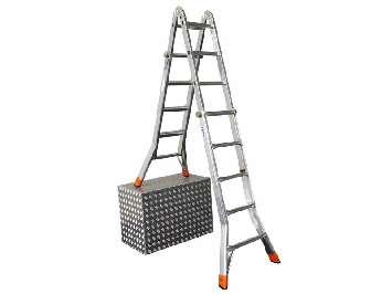Аренда шарнирной лестницы телескопической Krause TeleMatic 4x5 ступеней