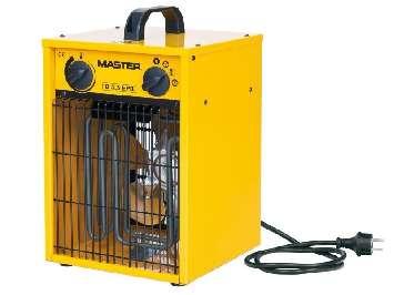 Аренда электрической тепловой пушки (тепловентилятора) Master B 3.3 EPB (1.65-3.3 кВт)