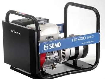 Аренда бензинового генератора Sdmo HX 6000 S (5.5 кВт) портативная электростанция