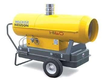 Аренда дизельной тепловой пушки непрямого нагрева Wacker Neuson HI 60 (Германия)