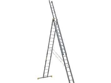 Аренда трехсекционной алюминиевой лестницы стремянки 3х18 Алюмет 14 метров