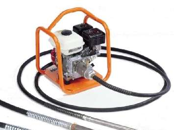 Аренда глубинного бензинового вибратора для бетона Belle BGA 25 с гибким валом