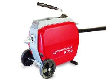 Аренда электромеханической прочистной машины Rothenberger R750 для чистки труб 900Вт